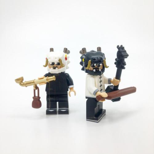 Custom Minifigures FJ Brick Little Dragon Men Set