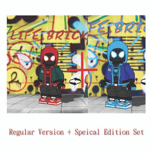 Custom Minifigures Life Brick Milesmorales Spider Guys Special and Regular Version