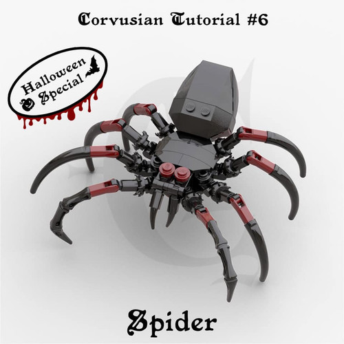 Cesar Corvus Auriac MOC Tutorial Free Spider Digital Building Instruction