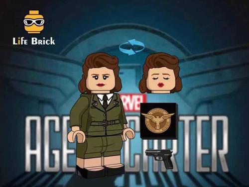 Custom Minifigures Life Brick Captain Love Sharon Carter