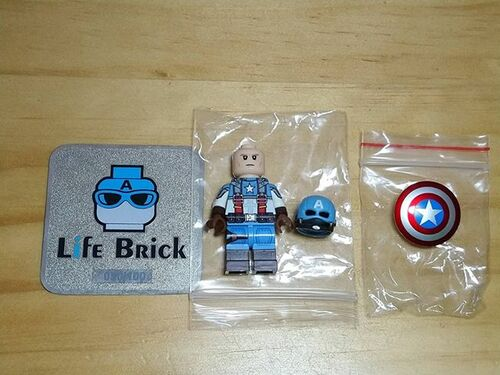 Custom Minifigures Life Brick USA Captain 2nd Hand