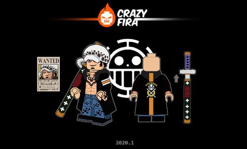Custom Minifigures Crazy Fira Pirate Water Law