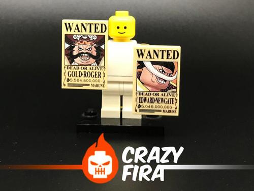 Custom Minifigures Crazy Fira Roger and White Beard Plate
