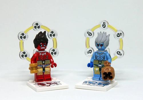Custom Minifigures the Bricker Wind and Thunder God Set