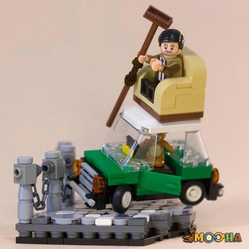 Custom Minifigures Bean and Cooper Drifting MOC Set