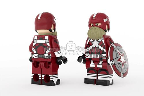 Custom Minifigures Phoenix Red Soldier