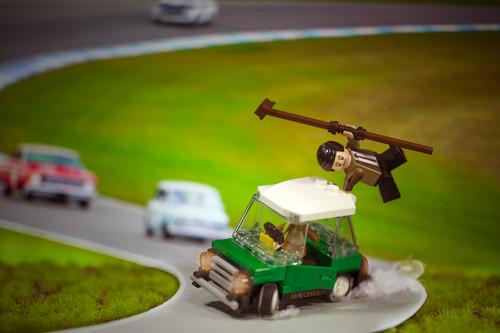 MiniMOCha Digital LEGO Photo Mr Bean Drifts Minicooper