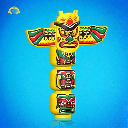 Custom Minifigures Fantastic Lamp Indian Totem