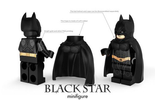 Custom Minifigures Blackstar Shadow