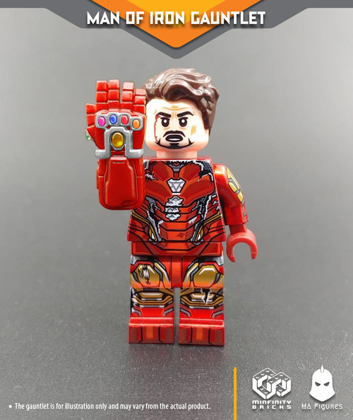 Custom Minifigures Minfinity MA Figure Man of Iron Gauntlet