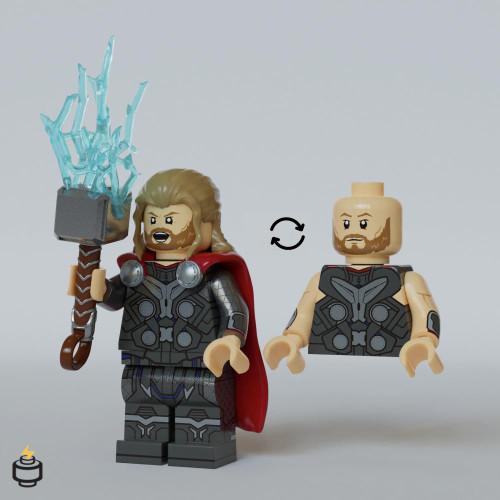 Custom Minifigures Jaka Thunder God