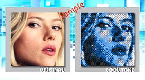 Minfinity Custom Handmade Mosaic Plate 48 x 48  Cool Tone