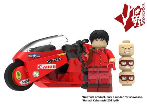 Custom Minifigures Kabunashi Akira Motorcycle MOC Set