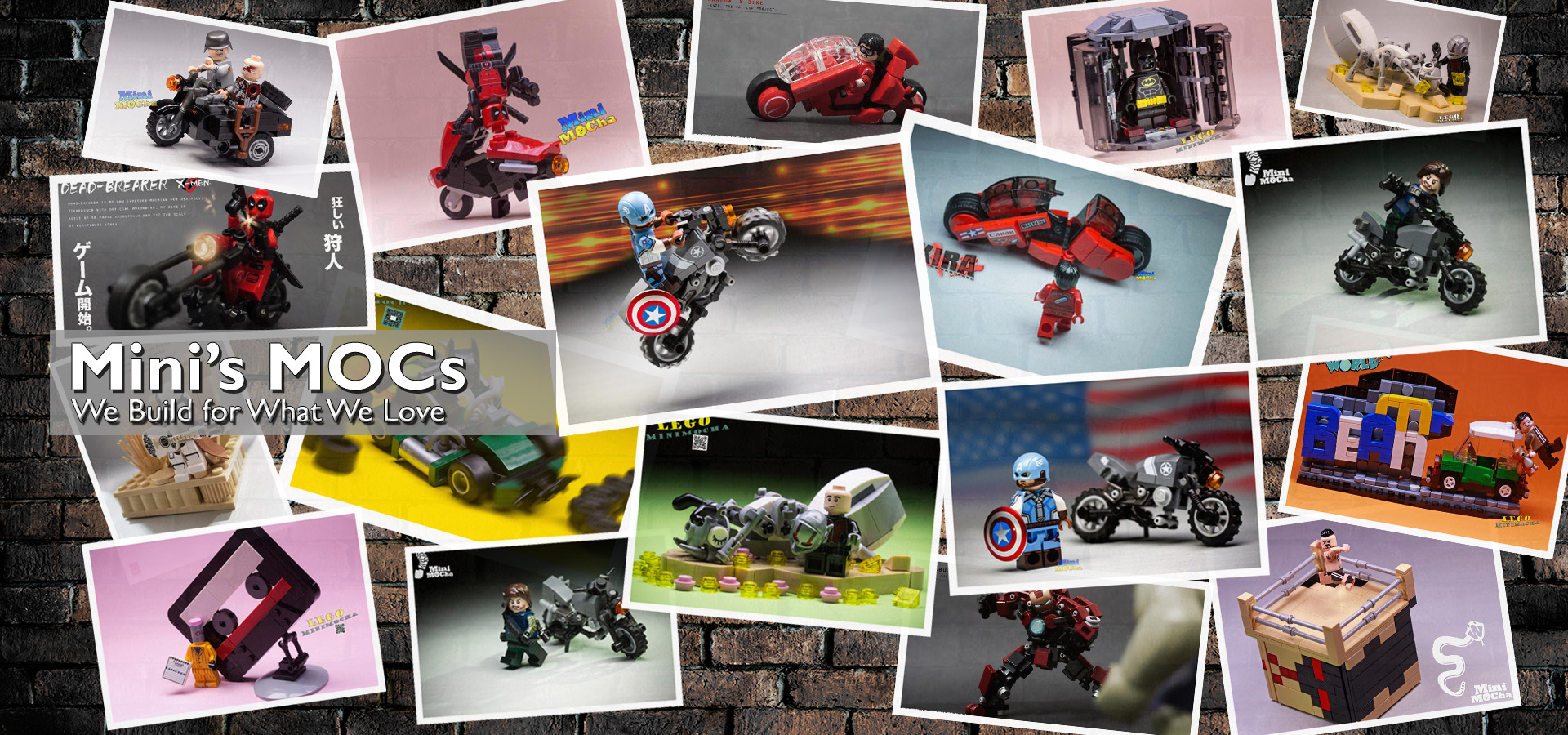 MiniMOCha - Custom Limited LEGO Minifigures, LEGO MOC and Preorder