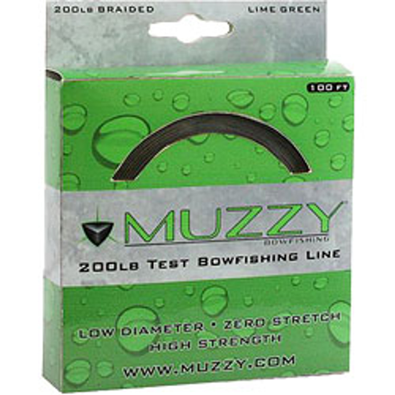 Braided Lime Green 200# Bowfishing Line by Muzzy