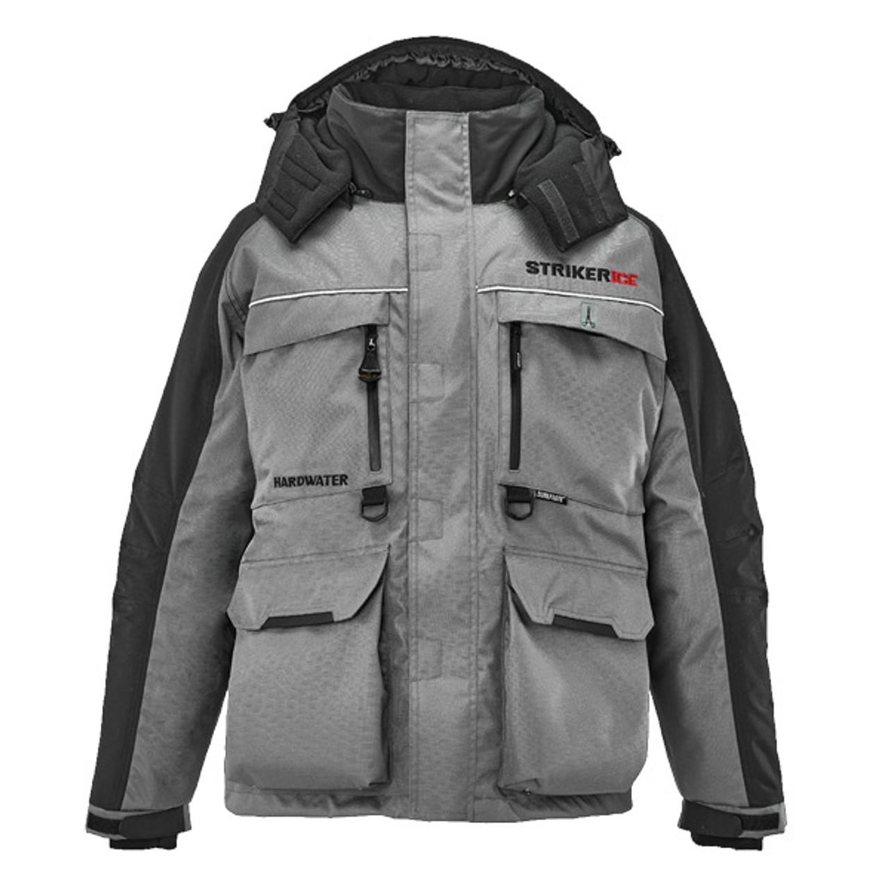 New 2020 Black/Gray Striker Ice Floating HardWater Jacket