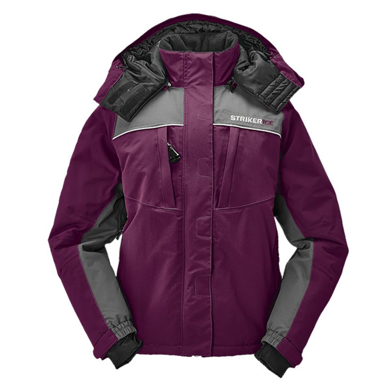 New 2020 Marsala/Gray Striker Ice Women's Floating Prism Jacket