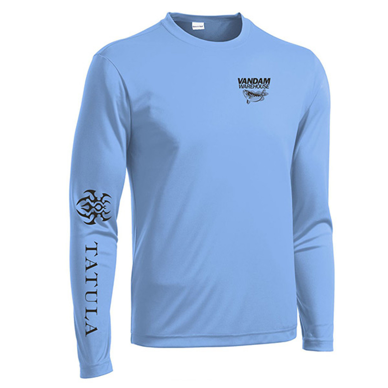 VanDam Warehouse Daiwa Tatula Performance Shirt - Blue Front