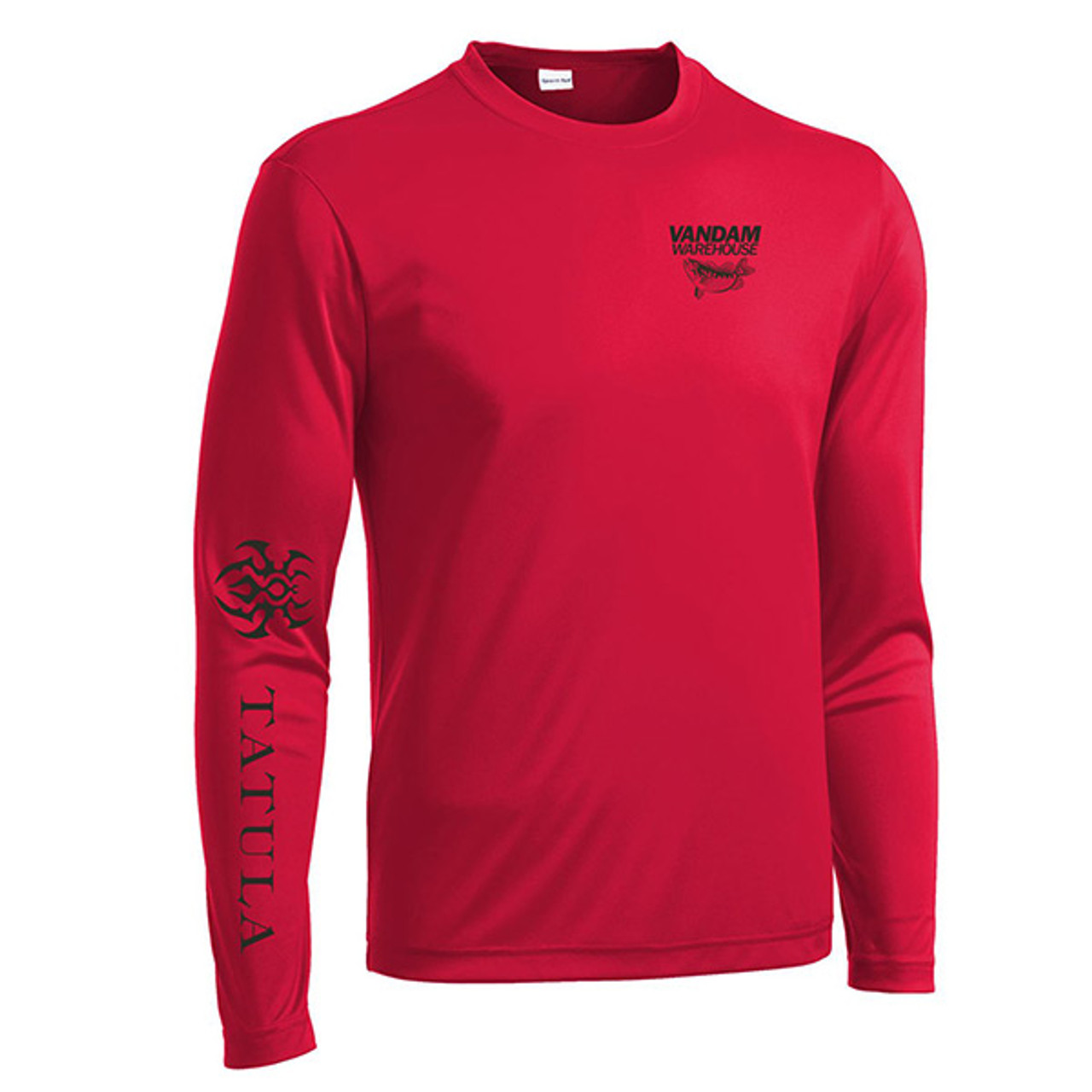 VanDam Warehouse Daiwa Tatula Performance Shirt - Red Front