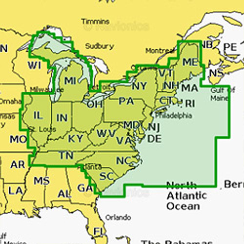 Navionics+ Regions Marine Charts SD/MSD Map Card