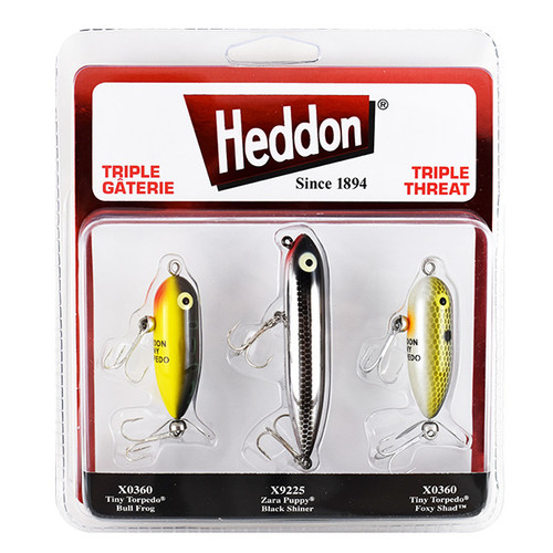 Heddon Triple Threat 3-Pack Baits