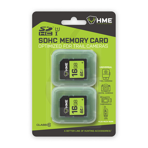 16GB 2-Pack SD Cards by HME Products