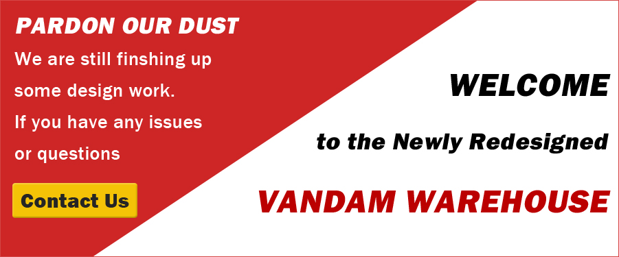 Welcome to the new VanDam Warehouse!