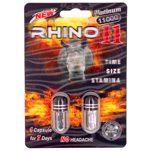 Rhino 11 Platinum 2 count double pack front image