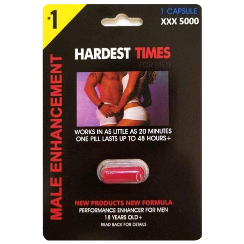 Hardest Times for men 1 count front