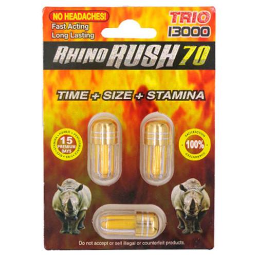 Rhino Rush 70 Trio 13000 Triple Pill front image