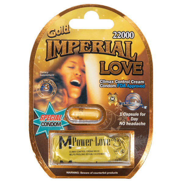 Imperial Love Gold with Condom 22000 Front