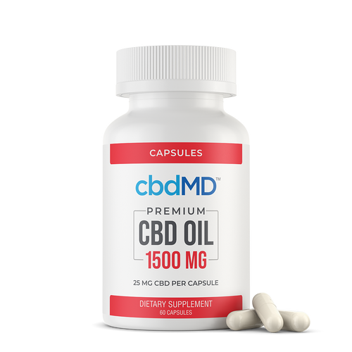 CBDMD Oil Softgel 1500mg 60 Cap