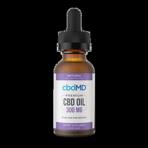 CBDMD Tincture 300Mg Natural, Full Spectrum HEMP CBD |  PRCBD
