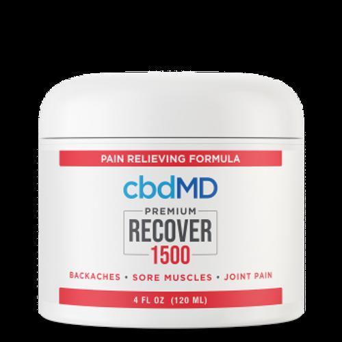 CBDMD Recover 1500mg Tub 4 fl oz