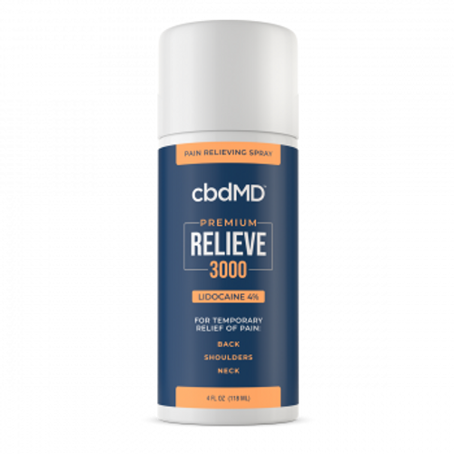 cbdMD's 3000mg Relieve is a CBD topical featuring the reliable pain relieving properties of lidocaine. PRCBD