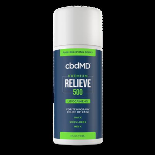 CBDMD Relieve Lidocaine Spray 4oz 500mg