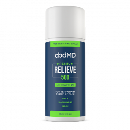 cbdMD's 500mg Relieve is a CBD topical featuring the reliable pain relieving properties of lidocaine. PRCBD