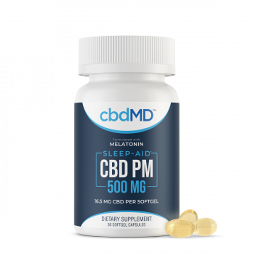 CBDMD - CBDPM - Sleep Softgels -30 count  CBD oil with melatonin to act as the best sleep aid for you to get better rest  | PRCBD