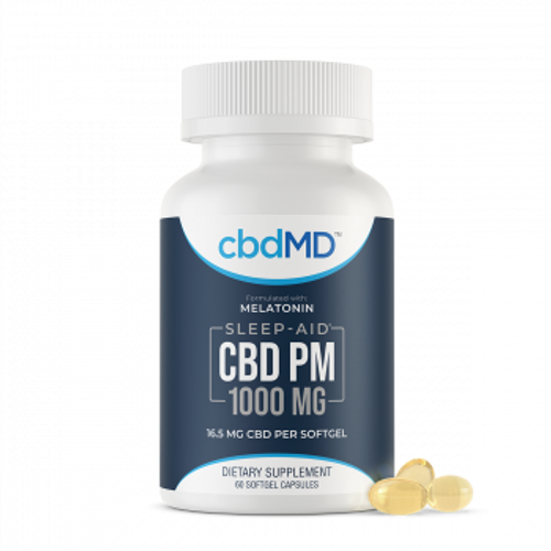 CBDMD - CBDPM - Sleep Softgels -60 count  CBD oil with melatonin to act as the best sleep aid for you to get better rest  | PRCBD