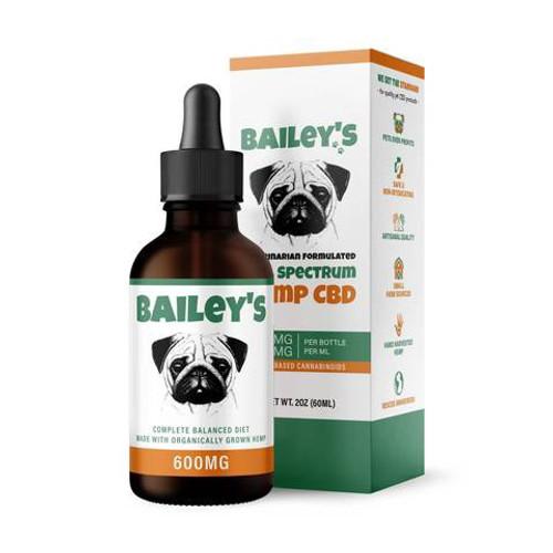 Bailey's Full Spectrum Hemp CBD for Dogs 600mg 30mL