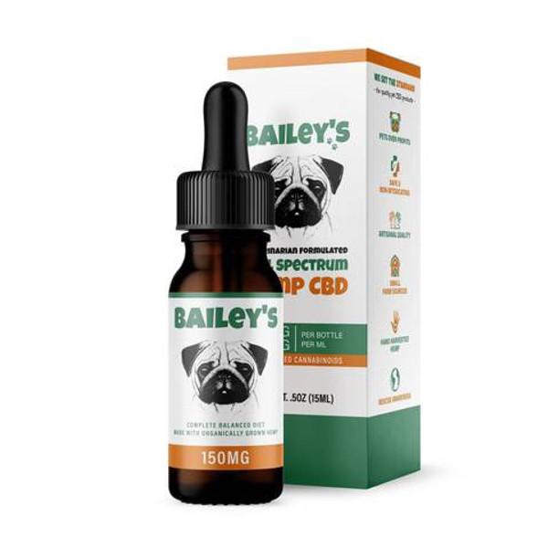 Bailey's Full Spectrum Hemp CBD for Dogs 150mg 15mL