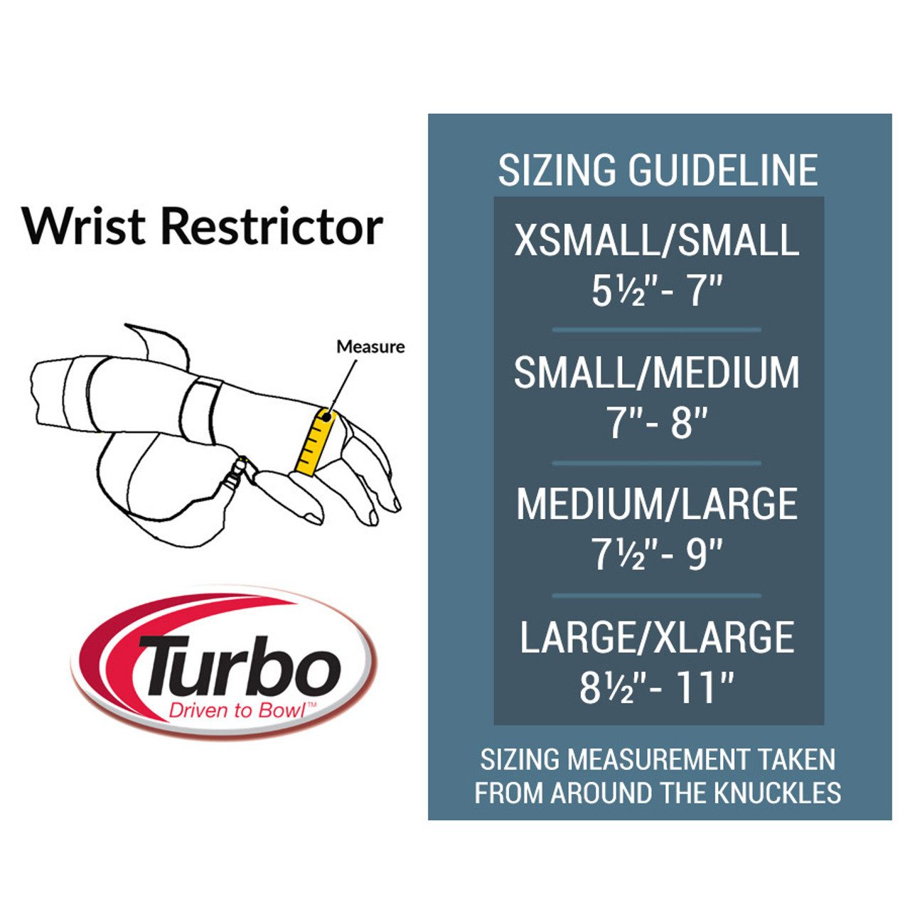 Turbo Wrist Restrictor Size Chart