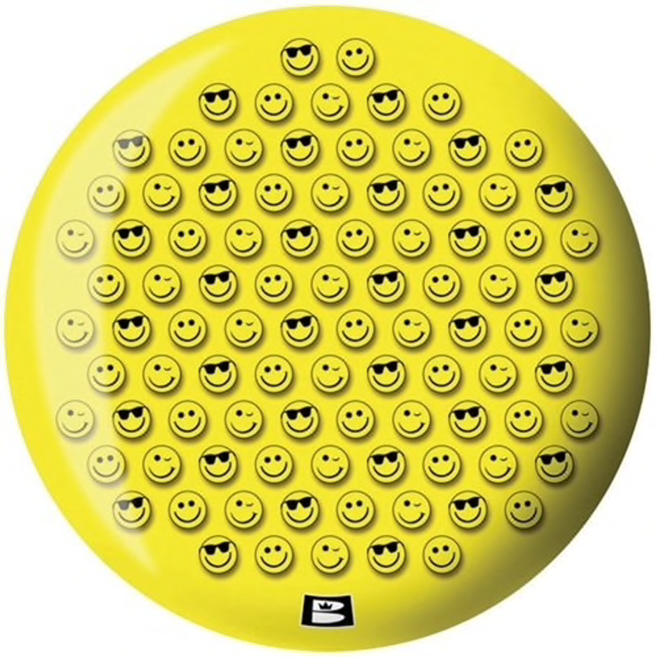 Brunswick Smiley Face Viz-A-Ball Bowling Ball Back Side
