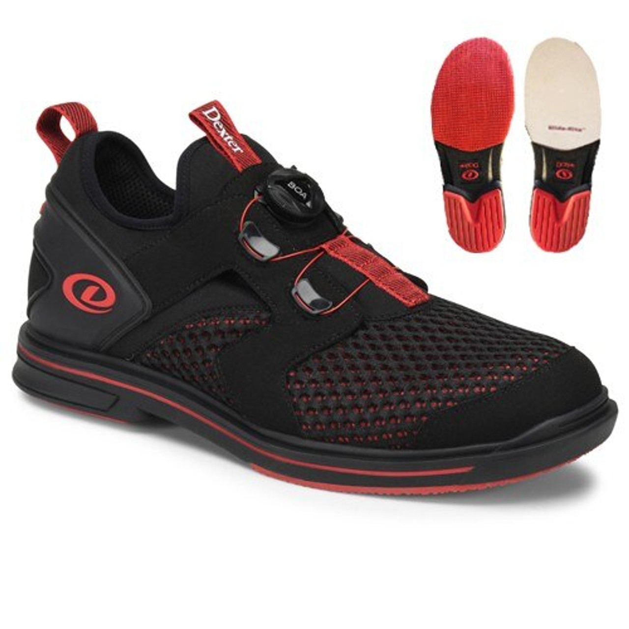 Dexter Pro BOA Mens Bowling Shoes Black/Red Right Hand ...