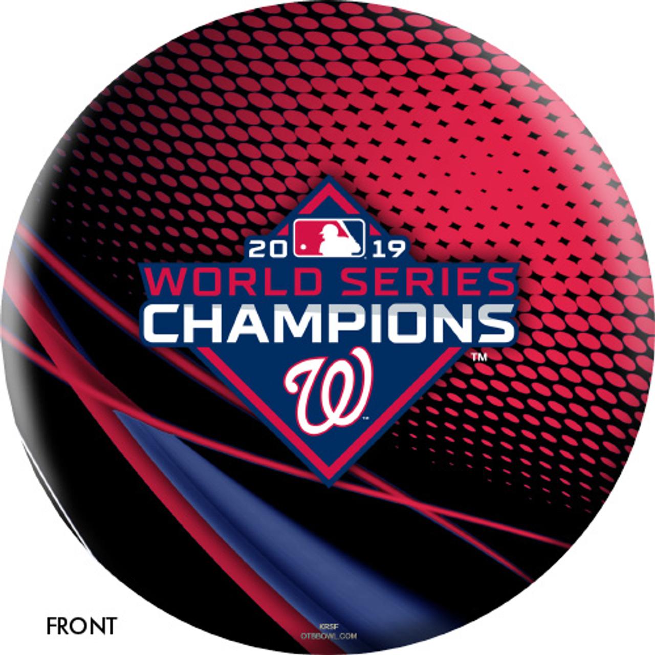 OTBB 2019 World Series Champion Washington Nationals Bowling Ball Red/Black