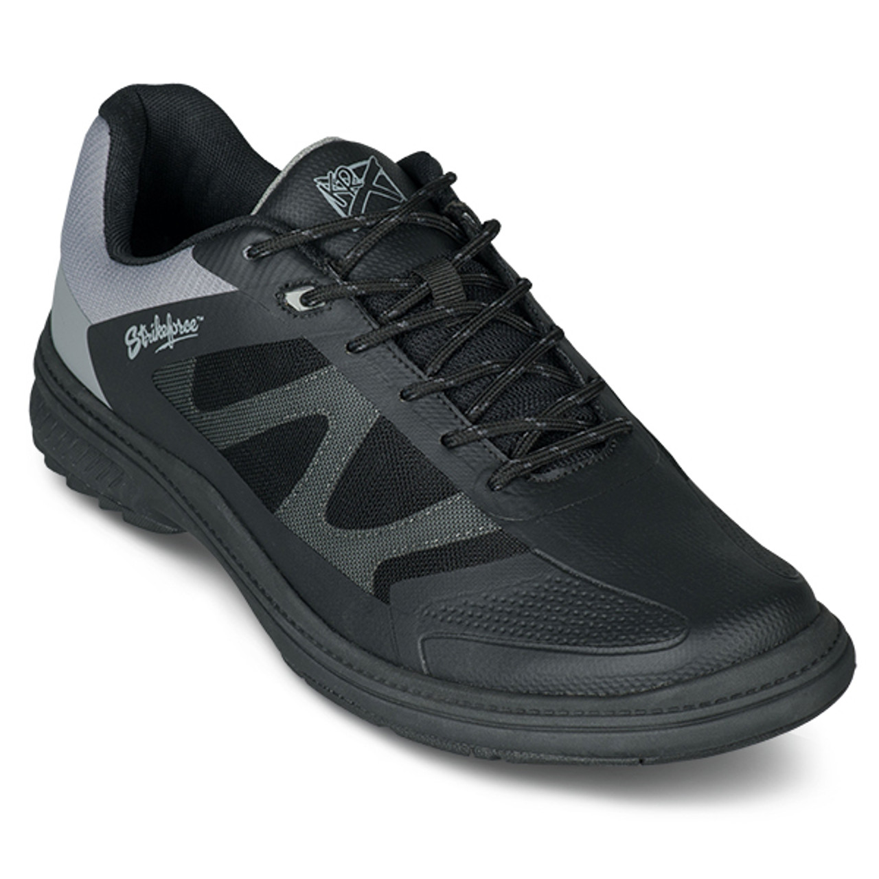 KR Strikeforce Mens Epic Bowling Shoes Black/Charcoal Right Handed WIDE