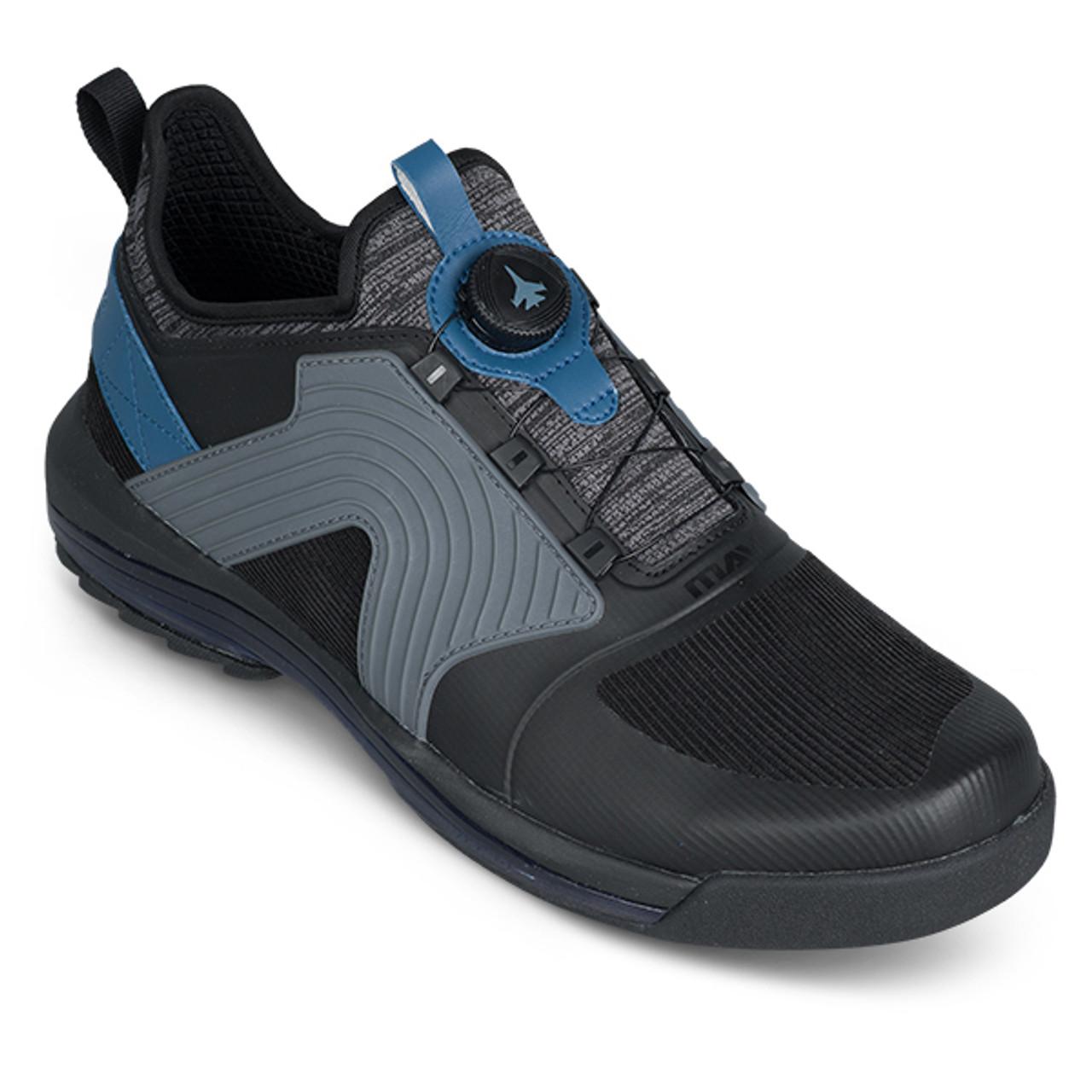 KR Strikeforce Mens Maverick Bowling Shoes Black/Cobalt Left Handed