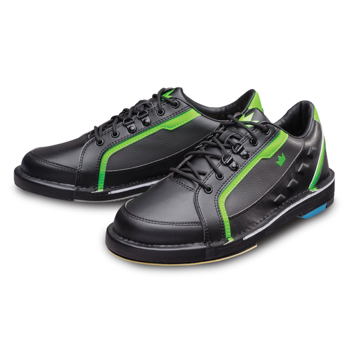 Brunswick Punisher Mens Bowling Shoes Black/Neon Green Right Hand WIDE