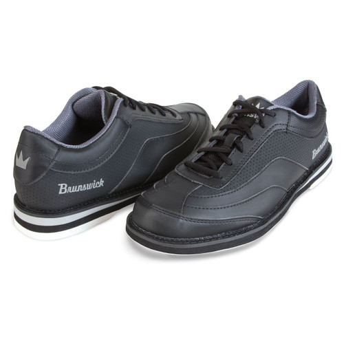 Brunswick Rampage Mens Bowling Shoes Black Right Hand WIDE