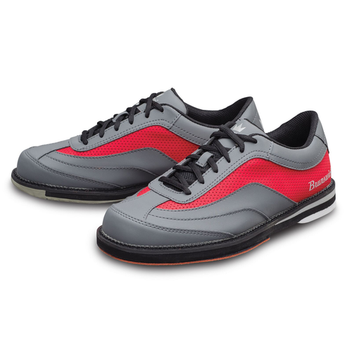 Brunswick Rampage Mens Bowling Shoes Grey/Red Right Hand